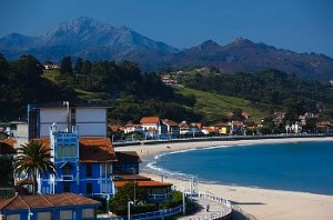 View of mountains and a beach in Spain