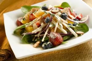 Creamy Citrus Berry And Jicama Salad