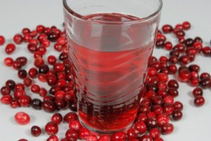 A Glass Of Cranberry Juice