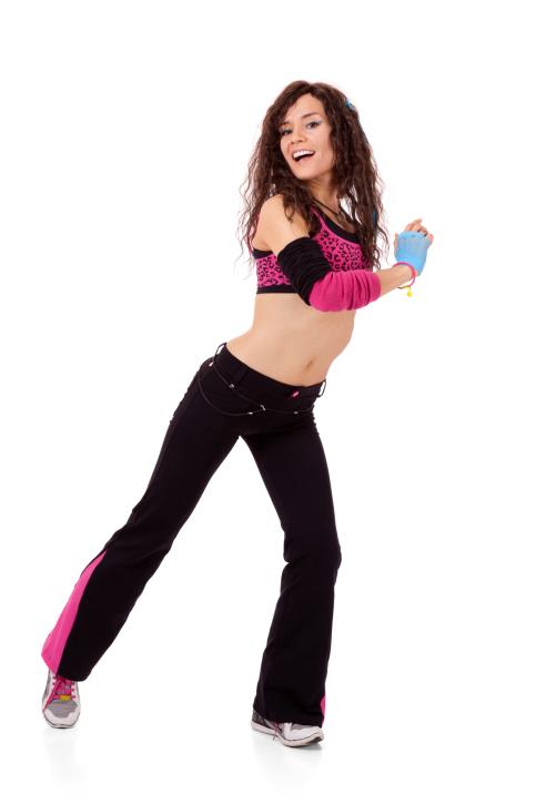 Zumba woman dancing