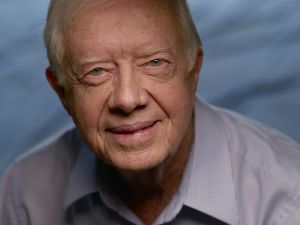 JIMMY CARTER, FORMER PRESIDENT JIMMY CARTER