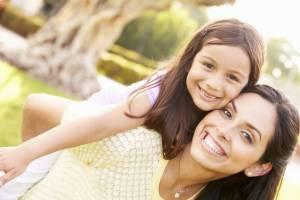 young hispanic mom