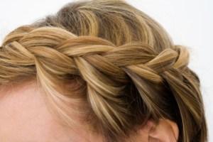 french braid, blond hair