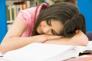 hispanic woman sleeping