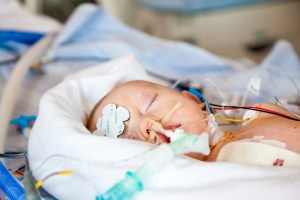 Child intensive care after heart surgery, anesthetic care.