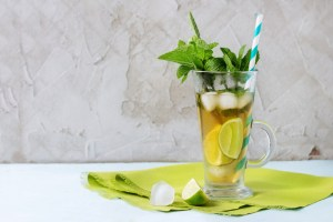 lime mint iced tea