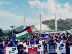 اسلام آباد میں نماز عید کے بعد فلسطین میں اسرائیلی مظالم کیخلاف احتجاجی ریلی