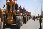 مصر نے تعمیرنو اور بحالی کیلئے مشینری فلسطین کے جنگ زدہ علاقے میں پہنچا دی