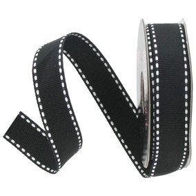 black-and-white-grosgrain-ribbon