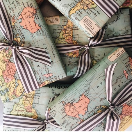 Striped Grosgrain with world map.jpg