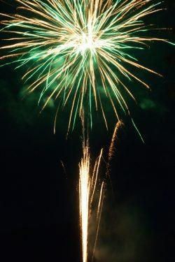 cool shot of green bursting firework with yellow shooting sparks - 4th of July Fireworks original work -https://unsplash.com/photos/PKJnzFlvR2w