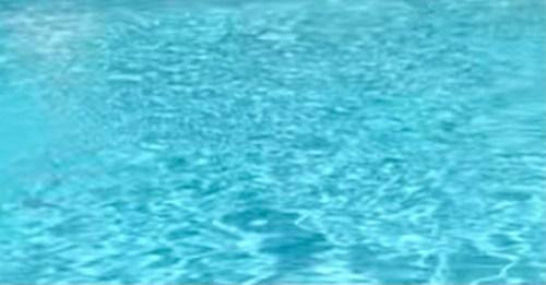 close-up bright blue aqua pool water