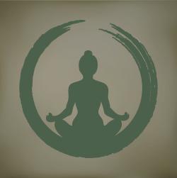 yogi green gray background