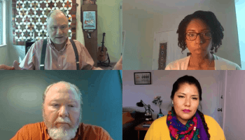 A snapshot of video panel featuring rural journalists covering Covid-19