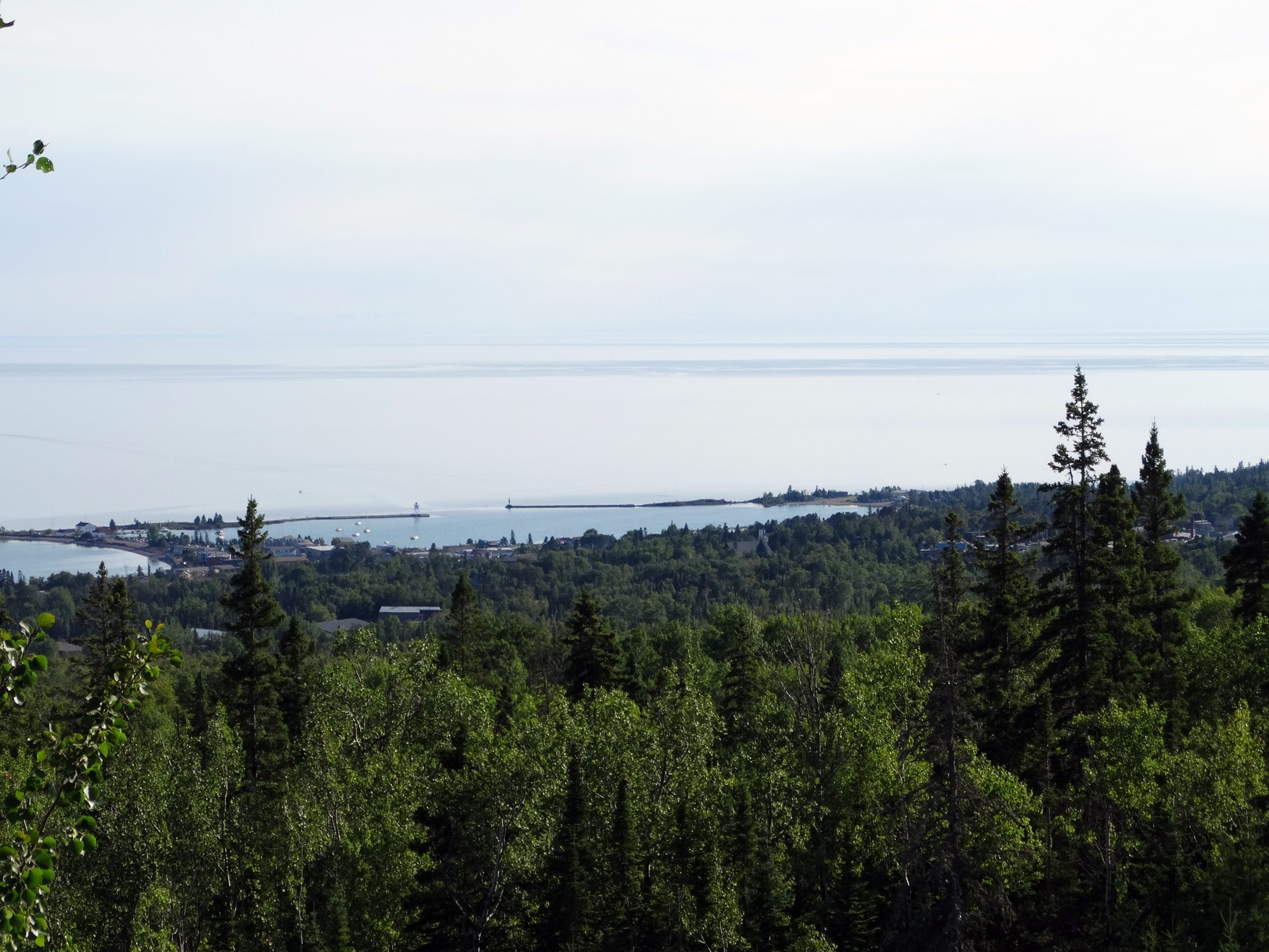 Photo of Grand Marais Harbor from a distance