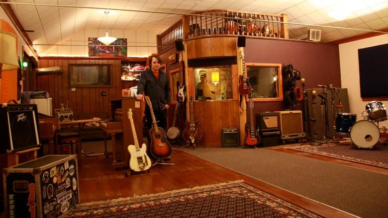 Photo of music studio recording space