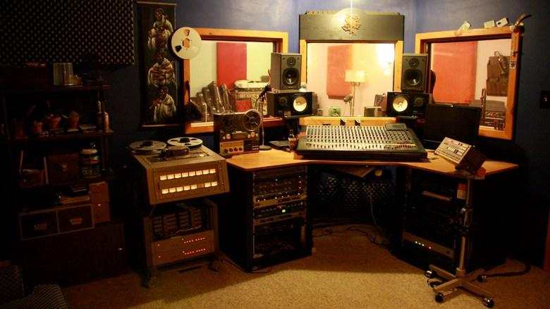 Photo of music studio control room