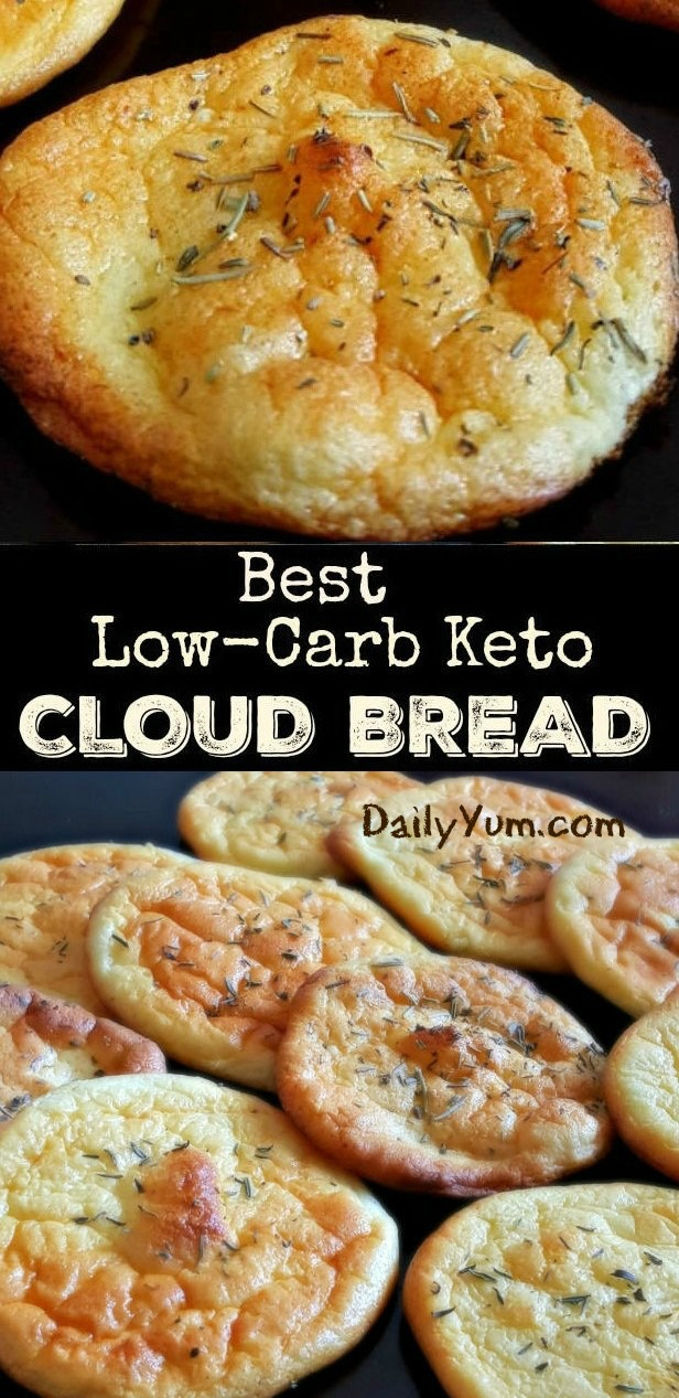 keto bread with no carbs - cloud bread