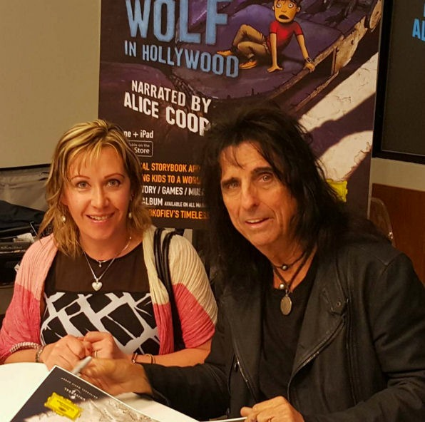 with Alice Cooper and launch of Peter and the wolf  in hollywood app