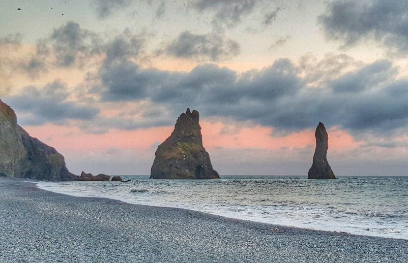 Black Sand Beach in Vik, Iceland