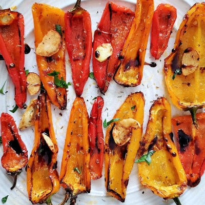 Air Fryer Roasted Sweet peppers recipe