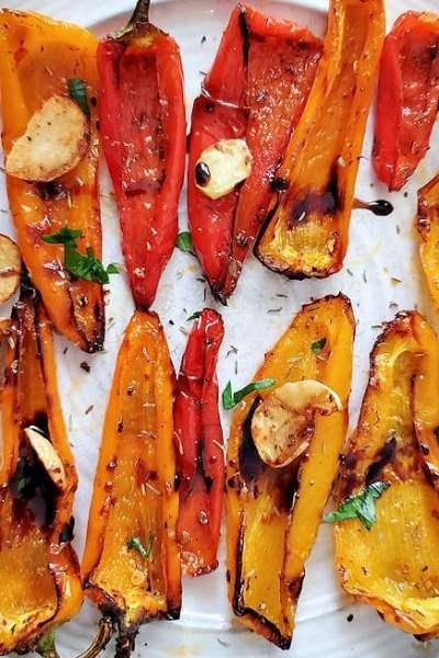 Air Fryer Roasted Sweet Peppers