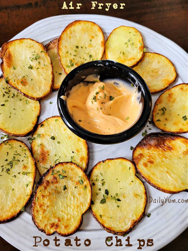 Air Fryer Potato Chips, home made