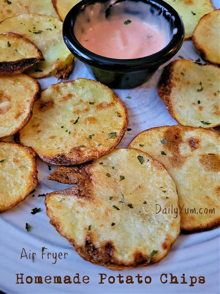 Air Fryer home made potato chips
