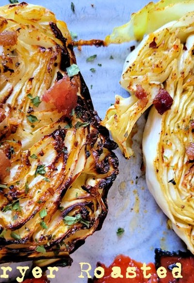 Air Fryer Roasted Cabbage