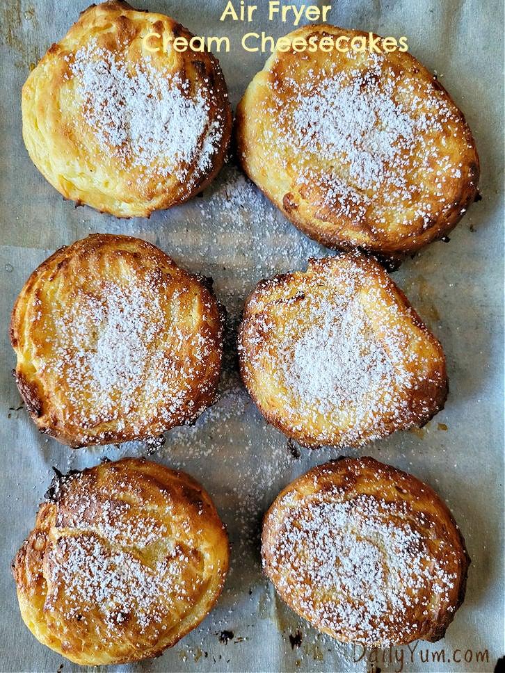 Air Fryer cream cheesecakes