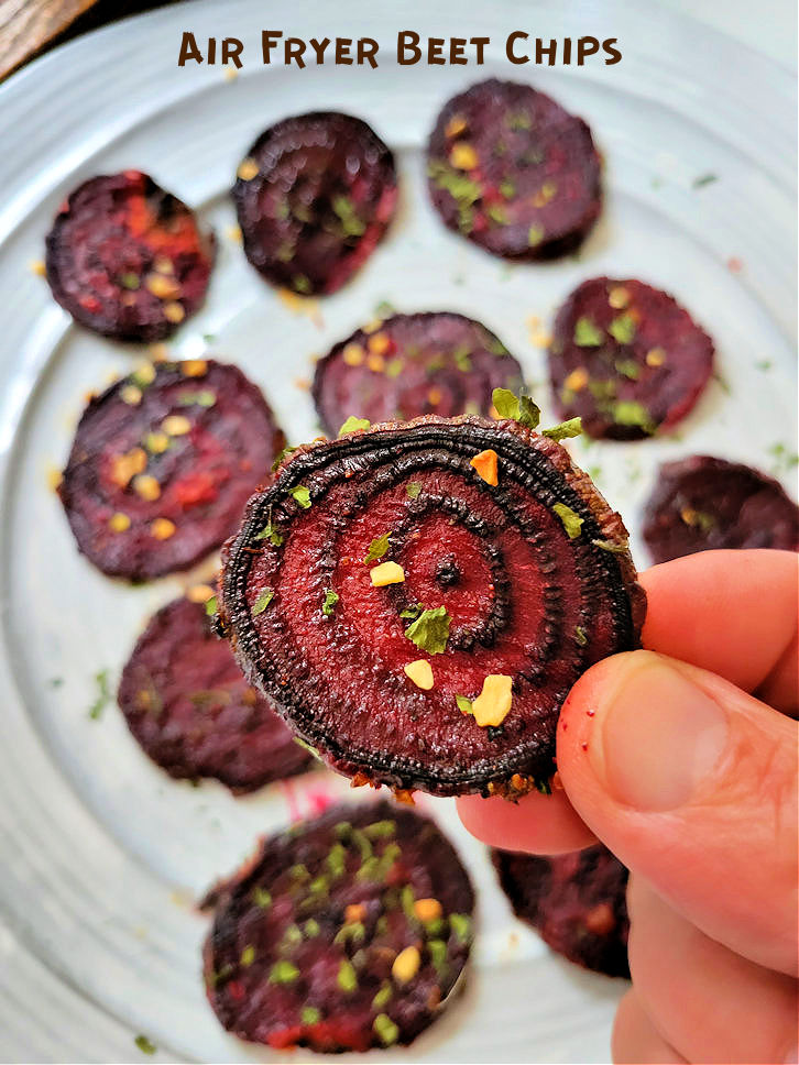 Crispy Beet Chips in the Air fryer