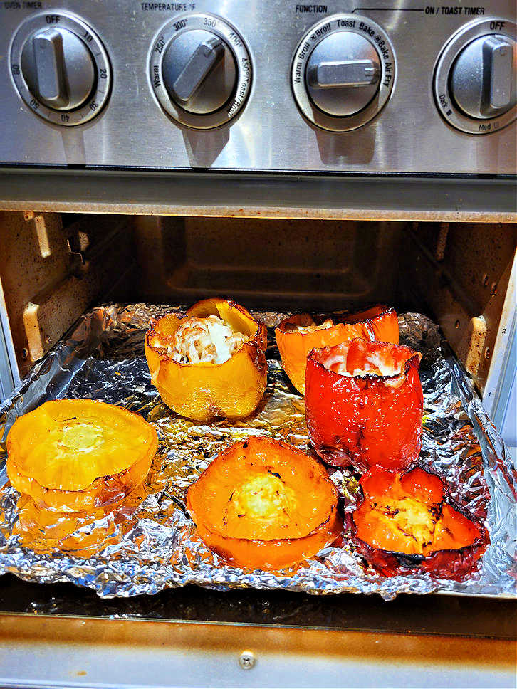 Stuffed roasted peppers in air fryer