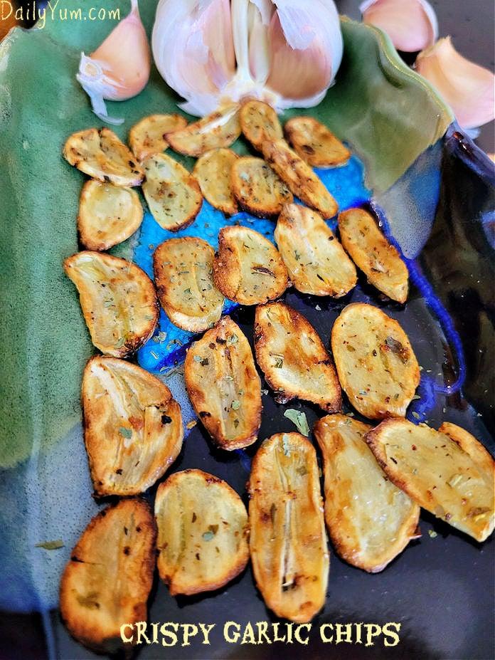Crispy Garlic Chips, Air fryer