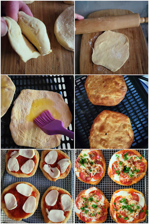How to make air fryer pizza from Pillsbury biscuits
