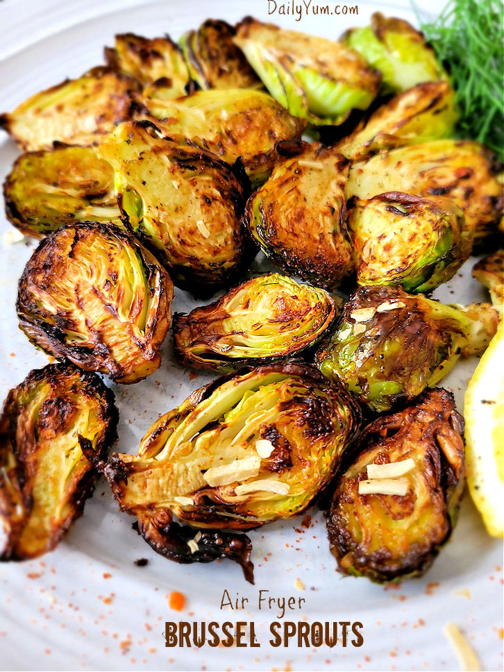 Crispy Air fryer Brussel Sprouts