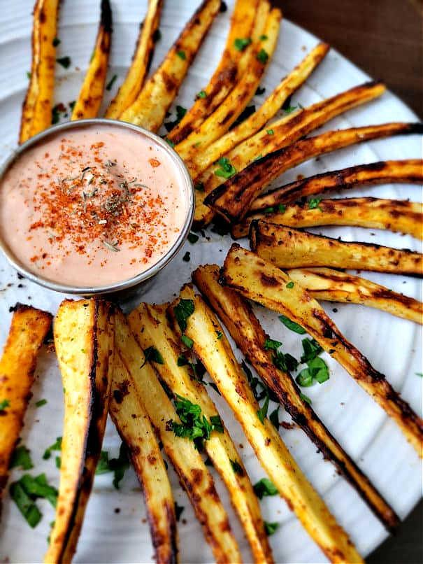 Air fryer parsnip fries