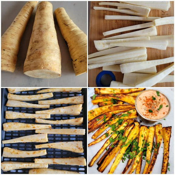 How to make air fryer roasted parsnip fries