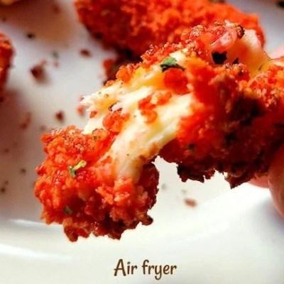 Spicy Mozzarella Air fryer sticks