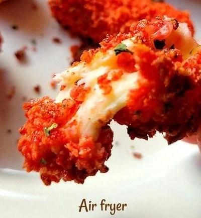 Air Fryer Spicy Mozzarella Sticks (Doritos or Takis)