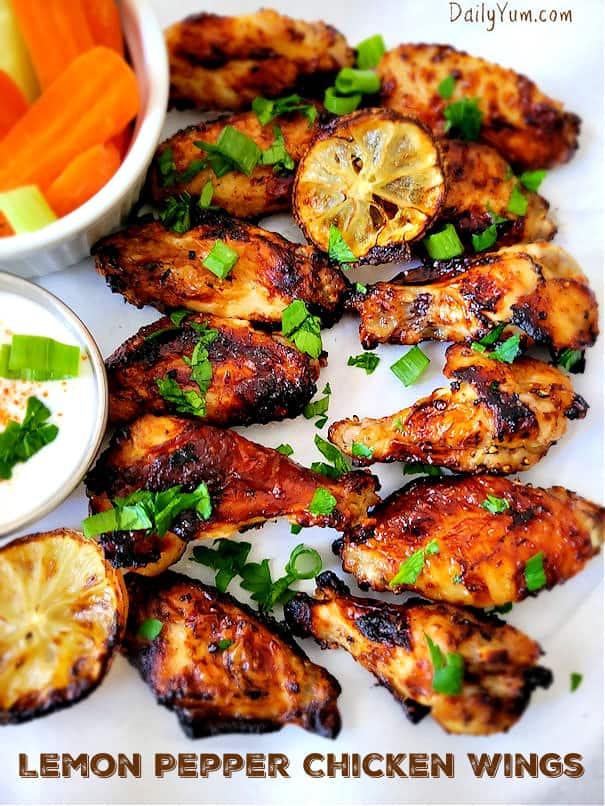Air Fryer HOney Lemon Pepper wings