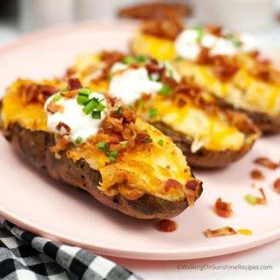 Air fryer twice baked potato recipe