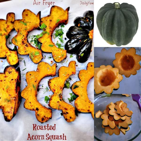 how to cut acorn squash, air fryer recipe