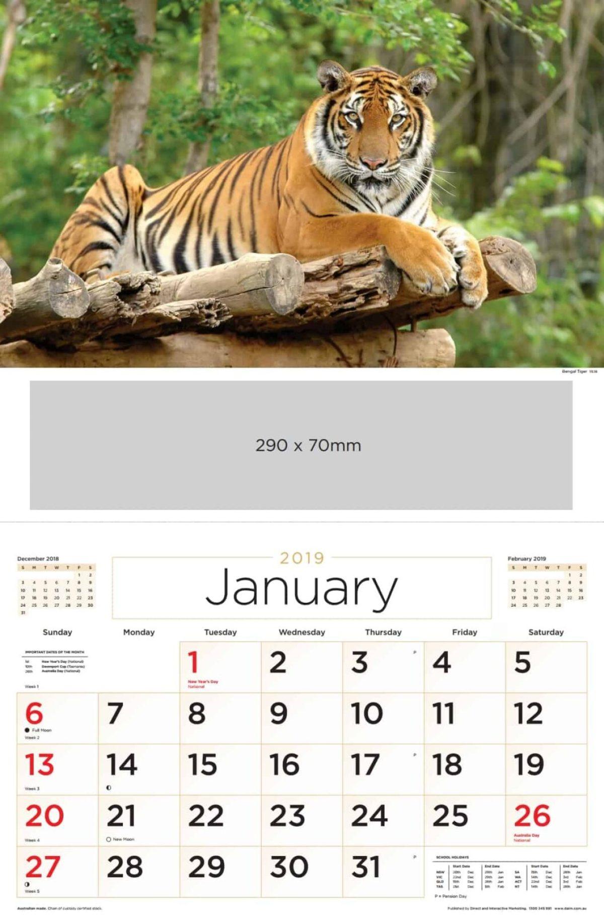 Single Image Calendar