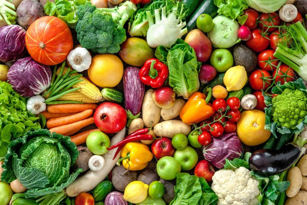 128   Assortment of  fresh fruits and vegetables
