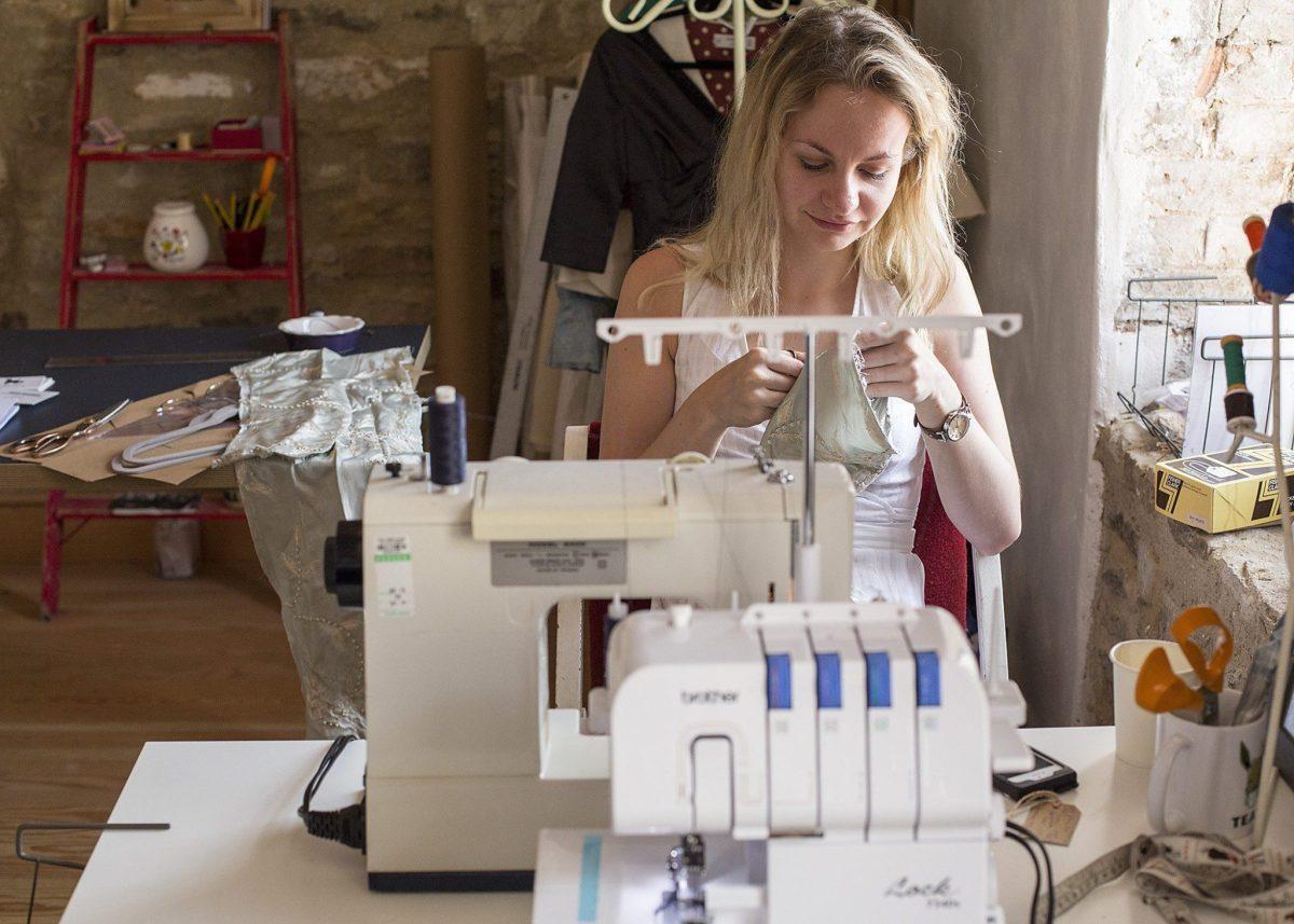 sustainable brand, eco fashion, atelier, seamstress