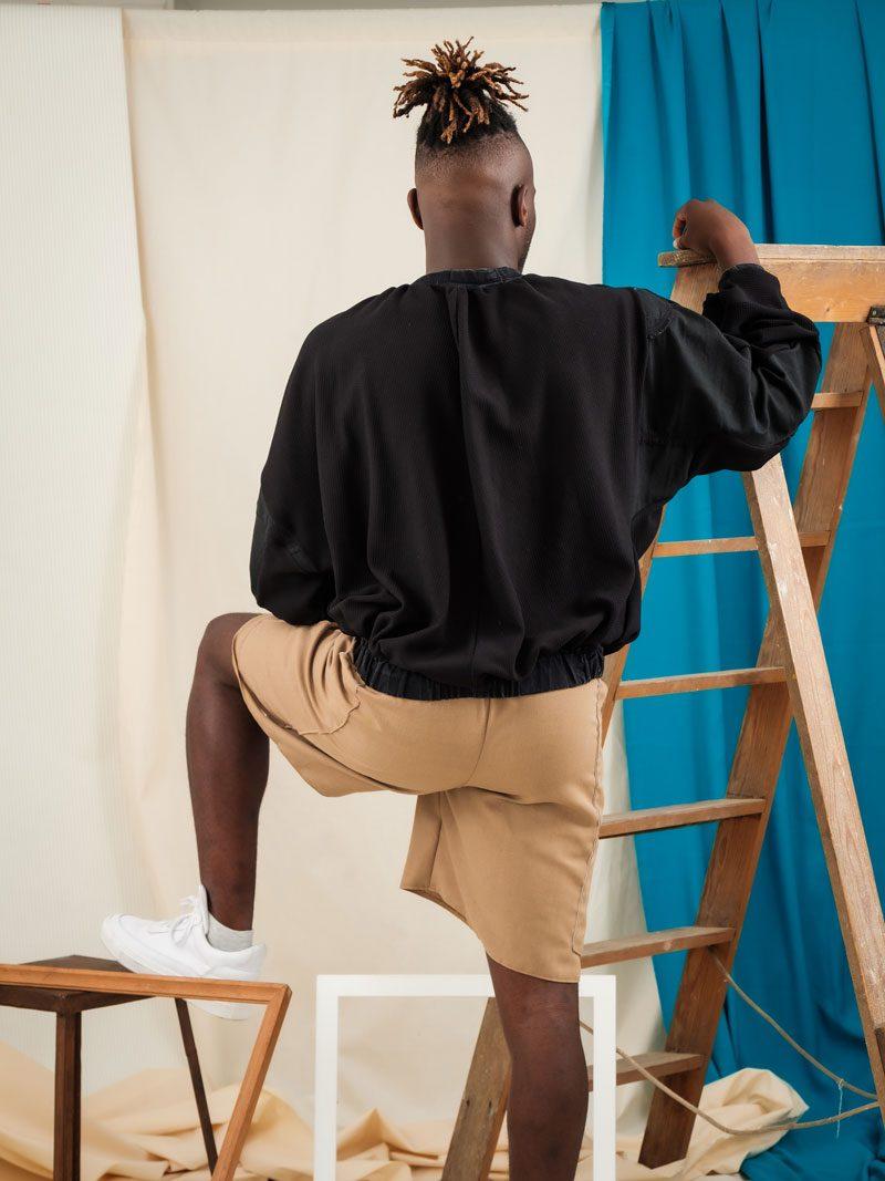 Yang Jumper Back upcycled denim unisex streetwear
