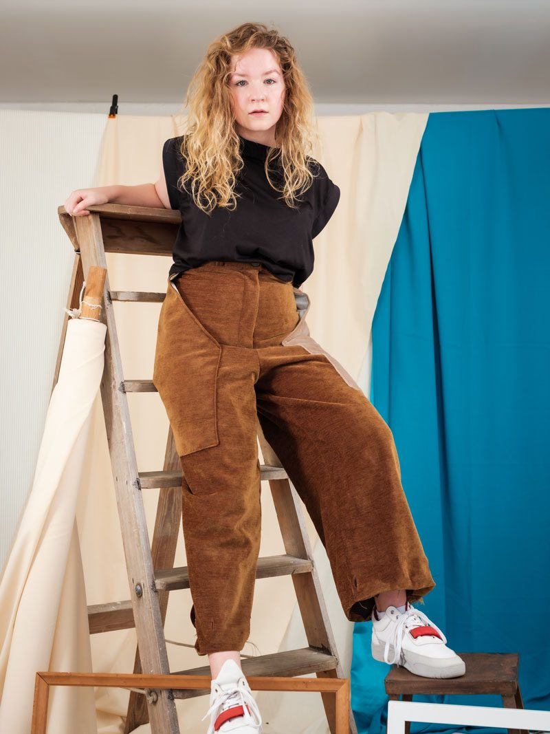 Sustainable ethical brown corduroy trousers