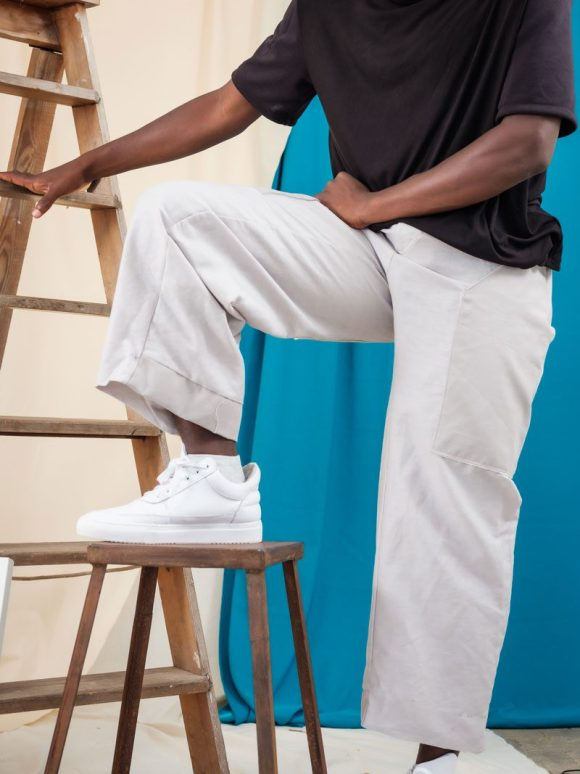 Ethical Streetwear handmade uK gender fluid trousers