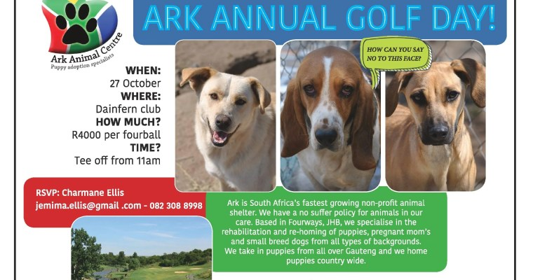 ARK ANNUAL GOLF DAY: 27 OCTOBER 2017