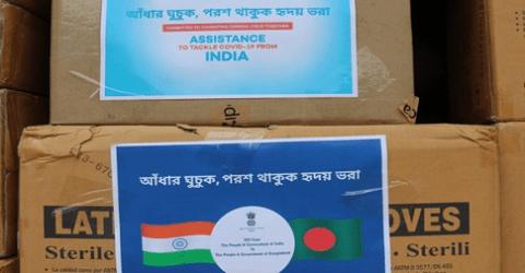 বাংলাদেশকে এক লাখ হাইড্রোক্সিক্লোরোকুইনসহ করোনা সামগ্রী দিল ভারত